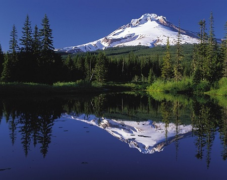 Make a Mountain out of a molehill--mountain reflected in water