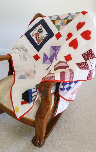 From the Heart-quilt on a rocker